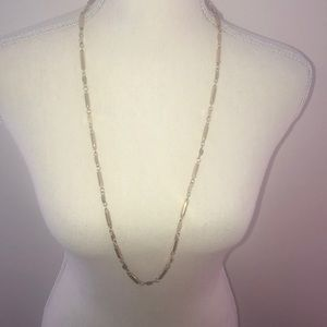 J Crew brass bar necklace